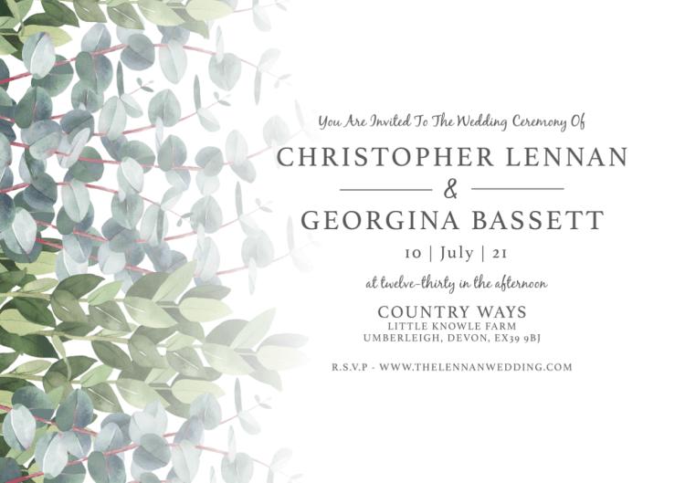Wedding website design in North Devon
